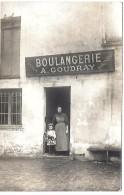LE MESNIL SAINT DENIS - Devanture De MAGASIN - BOULANGERIE A. COUDRAY - CARTE PHOTO - Le Mesnil Saint Denis