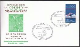 Germany Kassel 1972 Olympic Games Munich 1972 / Philatelic Exhibition / Swimming - Ete 1972: Munich