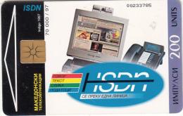 F.Y.R.O.M. - ISDN, Chip GEM1.2, Tirage %70000, 04/97, Used - Macedonia