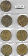 FRANCE 1931-1940 Morlon 2F Lot De 7 Pièces De Monnaie / Coin / Münze [J04b] - France