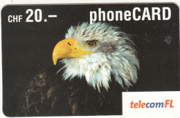 LIECHTENSTEIN - Eagle, Telecom FL Prepaid Card CHF 20, Exp.date 09/05, Used - Liechtenstein