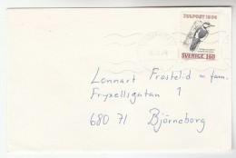 SWEDEN COVER Stamps WOODPECKER BIRD Birds - Climbing Birds