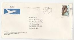 1978 Air Rmail BOTSWANA UNIVERSITY COVER  Stamps WOODPECKER BIRD  To GB Birds Airmial Label - Botswana (1966-...)