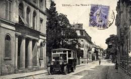 88 EPINAL Rue Thiers Et ,,,? Hospice Des Orphelins,Autobus Beau Plan - Epinal