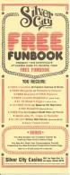 Silver City Las Vegas, NV - Paper Free Funbook Certificate - Advertising