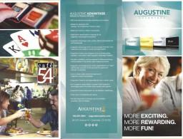 Augustine Advantage Players Club Brochure - Coachella, CA - Casino Cards