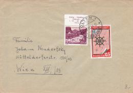 No 354 & B B 68 Sur Lettre Oblitérée OLTEN Le 21.IX.54 - Lettres & Documents
