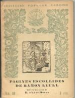 Col-lecio BARCINO Nº88  RAMON LLUL - Libros Antiguos Y De Colección