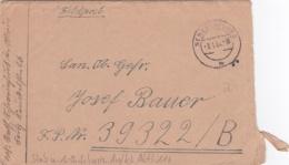 Feldpost WW2: To Aufklarungs-Abteilung 116 (3. Schwadron) FP 39322B P/m Schweinefurt 3.1.1944 - Letter Inside  (G84-30) - Militaria