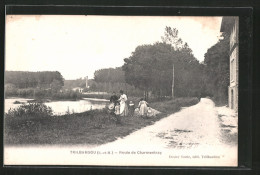 CPA Trilbardou, Route De Charmentray, Des Enfants Am Strassenrand - France