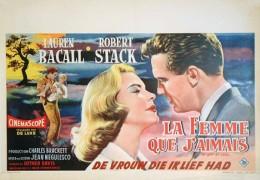 - Femme Que J'aimais (La) - De Vrouw Die Ik Lief Had - Affiche Originale De Cinéma 1956 - Affiches