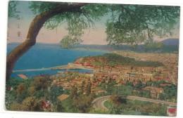 .1. NICE - VUE GENERALE . JOLI AFFR AU VERSO DE 1949 - 2 SCANES . - Nizza
