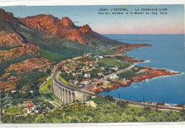 .12086. L'ESTEREL - LA CORNICHE D'OR - VUE SUR ANTHEOR ET LE MASSIF DU CAP ROUX .AFFR AU VERSO LE 29-8-1935- 2 SCANES - France