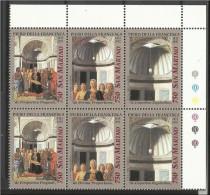 1992 San Marino Saint Marin NATALE  CHRISTMAS ´92  2 Serie Di 3v. (Trittico) In Blocco Triptych - Natale