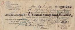E. PELTIER & A. PAILLARD / PARIS / BOITES é ETIQUETTES METALLIQUES / 1878 / Tampon 30 C + Tampon Sec - Wissels