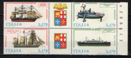 ITALIA - 1977 - SERIE: COSTRUZIONI NAVALI ITALIANE - NUOVI MNH** - 1946-.. Republiek