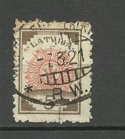 LETTLAND Latvia 1921  Michel 30 O Railway Cancel - Lettonie