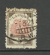 LETTLAND Latvia 1921  Michel 30 O Railway Cancel - Lettland
