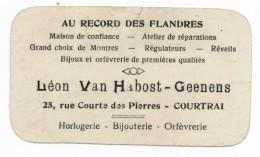 Carte Publicitaire  Au Record Des Flandres Léon Van Habost  Geenens Courtrai - Publicités