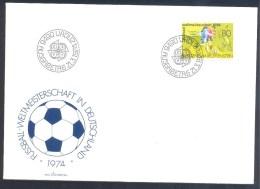 Liechtenstein 1974 FDC Cover: Football Fussball Soccer Calcio; FIFA World Cup: Weltmeisterschaft; Mundial; Mondial - World Cup
