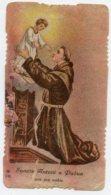 Santino Antico Fustellato SANT'ANTONIO DI PADOVA - M39 - Religione & Esoterismo