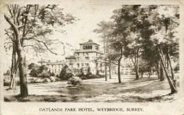 SURREY - WEYBRIDGE - OATLANDS PARK HOTEL 1949 Sur 277 - Surrey