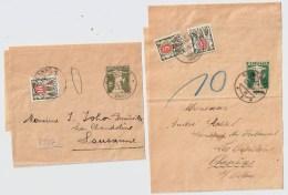 1935, 2 Streifbänder, Porto!  , #3061 - Stamped Stationery