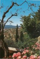 """GRASSE - """" LA CITE DES PARFUMS """" ECHAPEE SUR LA VILLE - ECRITE AU VERSO LE 24 FEVR 1987 - Grasse"""