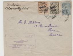 Ira009 / IRAN -  Erstflug 1929, Teheran - Bagdad Mit Weiterversand Nach Paris - Iran