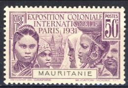 Mauritania 1931 N. 63 C. 50 Violetto Expo Di Parigi MNH Catalogo € 9 - Unused Stamps
