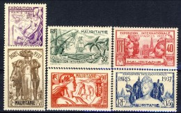 Mauritania 1937 Serie N. 66-71 Expo Internazionale MLH Catalogo € 10,40 - Unused Stamps