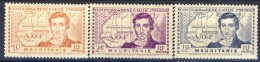 Mauritania 1939 Serie N. 95-97  Caillié MNH Catalogo € 5 - Unused Stamps