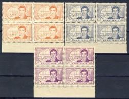 Mauritania 1939 Serie N. 95-97  Caillié Belle Quartine Bordo Di Foglio MNH Catalogo € 20 - Unused Stamps