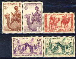 Mauritania 1943 - 44 Serie N. 125-130 (manca 128) MNH Catalogo € 7,50 - Unused Stamps
