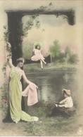 ALPHABET  LETTRE  E  /  SURRÉALISME  /  FEMME   ENFANTS  /  PHOTO  MONTAGE - Fantaisies