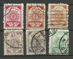 LETTLAND Latvia 1920 Michel 46 - 50 Incl 46 B O - Latvia