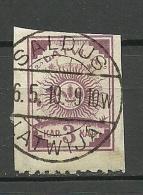 LETTLAND Latvia 1919 Michel 15 Perforated 9 3/4 At Bottom O Nice Cancel SALDUS - Lettonie