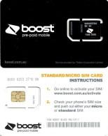 """AUSTRALIA GSM MOBILE """"BOOST""""  COMPANY BLACK  BIG SQUARE CHIP READ DESCRIPTION !!! - Australia"""