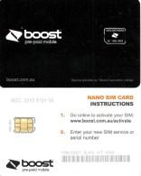 """AUSTRALIA GSM MOBILE """"BOOST""""  COMPANY BLACK  SMALL SQUARE CHIP READ DESCRIPTION !!! - Australia"""