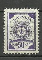 LETTLAND Latvia 1920 Michel 49 MNH - Latvia