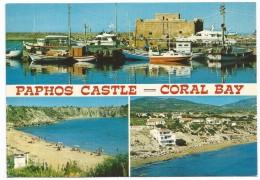 O2742 Cyprus - Paphos Castle - Coral Bay - Barche Boats Bateaux / Non Viaggiata - Cipro
