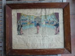 Brevet De Maitre De Danse - 58e Régiment De Ligne - 28 Avril 1861 à Limoux - Encadré Sous Verre - Diplômes & Bulletins Scolaires