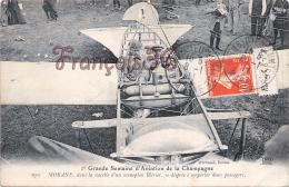 (51) Grande Semaine D'Aviation - Morane Dans La Nacelle D'un Monoplan Blériot - 2 SCANS - Châlons-sur-Marne