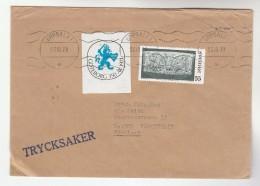 1971 GOTEBORG 350th ANNIV Heraldic Lion  Label COVER Stamps Sweden - Sweden