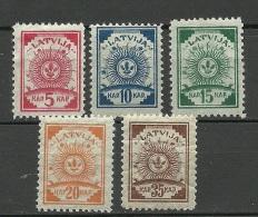 LETTLAND Latvia 1919 Michel 7 - 10 A + 12 A * Pelure Paper - Latvia