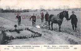 (51) Sommesous - Les Soldats Militaires Militaria Du Génie Labourant Les Champs - 1915 - 2 SCANS - Autres Communes