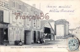 (51) Sermaize Les Bains - Hôtel Denis - Les Halles - Hotel Des Voyageurs - 2 SCANS - Sermaize-les-Bains