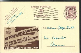 Publibel Obl. N° 721 ( Ne Vous Laissez Pas Faire ) Obl:  Namur 1947 - Werbepostkarten
