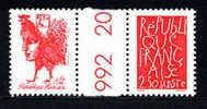 FRANCE BICENTENAIRE REPUBLIQUE 1992, YVERT 2774a PAIRE SE TENANT, COTE 6 EUROS - France
