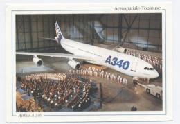 TOULOUSE - AEROSPATIALE-TOULOUSE - Airbus A 340 4 Octobre 1992 Cérémonie De Présentation Du P  **SCANS RECTO VERSO **C36 - 1946-....: Modern Era